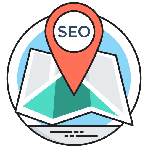 Local SEO Map with GPS marker